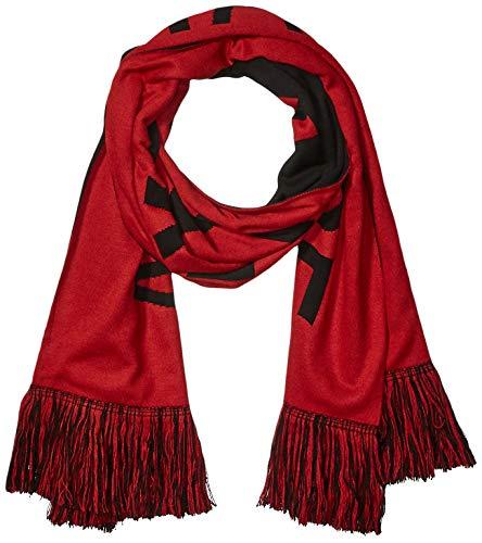 Armani Exchange AX Herren Logo Fringe Scarf Schal für kaltes Wetter, Scarlet Sage/Black, Einheitsgröße