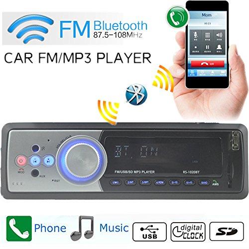 Boomboost FM Car Radio Stéréo Bluetooth FM AUX/EQ/USB/SD/Loud/MOUD/Télécommande pour Android/iPhone