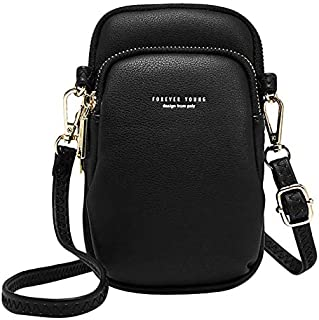 TOOGOO Casual Women Shoulder Bag Small Crossbody Bag Crossbody Cell Phone Shoulder Bag Black