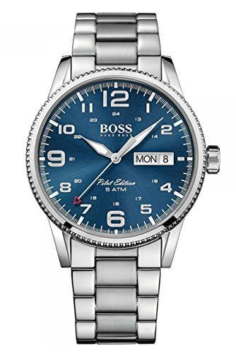 Hugo Boss Herren Quarz Armbanduhr mit Edelstahlarmband 1513329