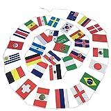 CUHAWUDBA Fuer Banner Fahnenkette 2018 21. Russland WM Fussball 32 Mannschaften Nationalflaggen 20 * 30cm