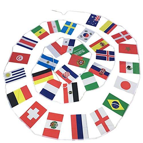 Fltaheroo Banner Flag String 21st Russia Football 32 Teams National Flags 20 * 30cm