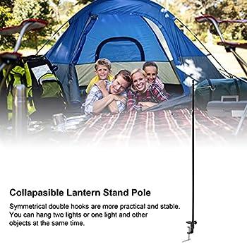 Onewer Support de Lanterne de Camping, matériau en Alliage d'aluminium Multifonction pour Poteau de Lampe Portable léger et Haute fiabilité pour Le Camping pour Les Amis