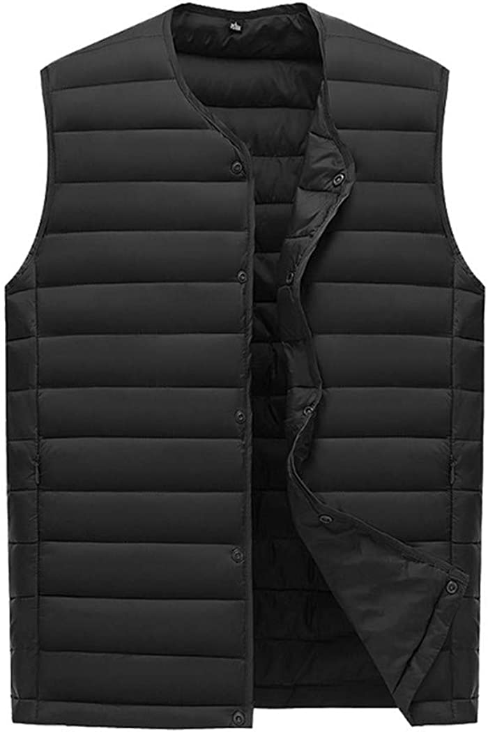 DADSFVG Men's Waistcoat Free Shipping New Max 46% OFF Ultra Light Collar Cotton Without Vest W