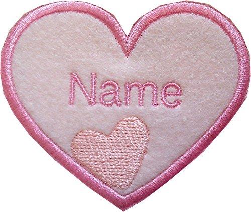 Parche bordado diseño corazones coser planchar bebé
