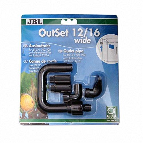 JBL - Outset Wide 12/16 Wasserrücklauf-Set mit Breitstrahlrohr für Außenfilter von Aquarien