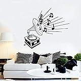 NoBrand Musique Gramophone Sticker Mural Style rétro Art Classique Art Mural Art Chambre Salon Musique Studio Concert décoration intérieure Sticker Mural 30 cm * 25 cm