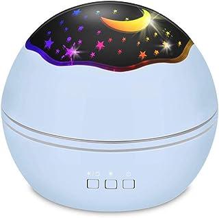 Starry Night Light Projector, Lámpara LED Star Moon Projector Giratorio Night Light Sleep Chupete para bebés Niños Decoración del dormitorio Regalo ideal
