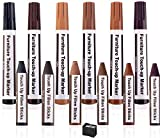 Furniture Markers, KMEIVOL Repair Kit Wood Markers, Furniture Pens for Scratches, Set of 12 Furniture Repair Kit Wood Markers, Wood Floor Scratch Repair, Furniture Pen for Stains