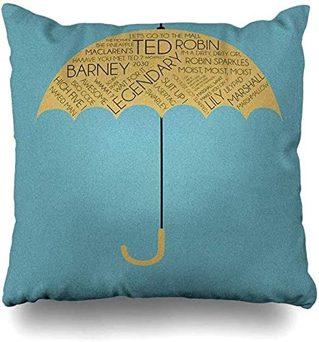 Amazon Com Throw Pillow Covers How I Met Your Mother Yellow Umbrella Pillowslip Square Sofa Cute 16 X 16 Inches Cushion Cases Pillowcases Home Kitchen