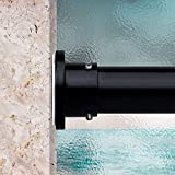 Room/Dividers/Now Premium Tension Curtain Rod, 120in-150in (Black)