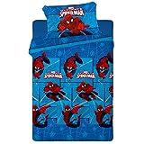 Asditex Juego de Sábanas Infantil 3 Piezas Spiderman de Marvel para Invierno...