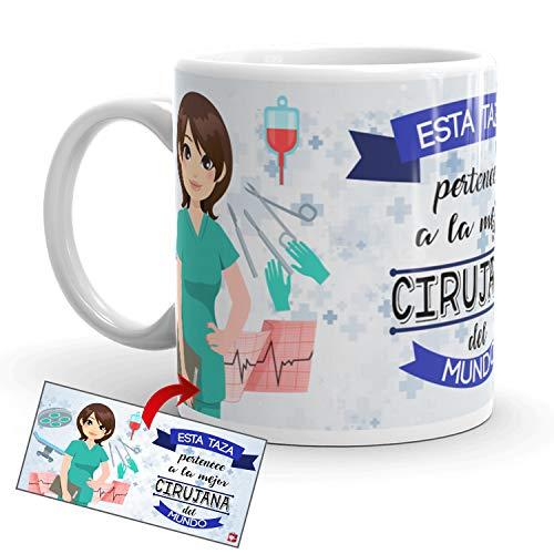 Kembilove Taza de Café de la Mejor Cirujana del Mundo – Taza de Desayuno para la Oficina – Taza de Café y Té para Profesionales – Taza de Cerámica Impresa – Tazas para Cirujana
