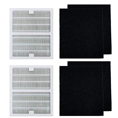 BBT BAMBOOST HEPA Filters B Fit for Idylis Air Purifier, 2 pcs HEPA Filter & 4 Carbon Prefilters, Fit for Idylis 2126 2125 IAP-10-125 IAP-10-150 Model # IAF-H-100B