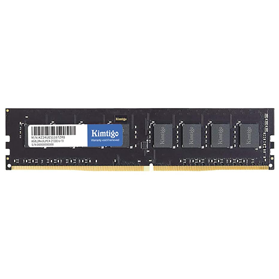 Kimtigo 8GB DDR4 RAM Desktop Memory 2666MHz Non ECC Unbuffered DIMM PC Computer Module Upgrade (DDR4 2666MHz, 8G)