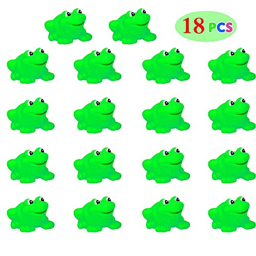 SLONLI Bath Toys for Toddlers 10pcs Squishy Frogs Baby Bathtub Frogs Toys for Passover Frogs Plagues for Kids