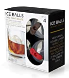 Prepara PP07-IPOWSK 2inch, Set of 4 Ice Ball Molds, 2 inch, Multi