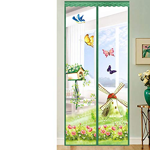 AINILX Magnetic Fly Screen Door Magnetischer Fliegen-Insektenschutzgitter Türgitter-Vorhang Einfache Montage ohne BohrenG_100x200cm