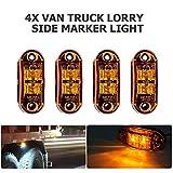 MASO, luci laterali a LED, indicatori di posizione laterali, 12 V, 24 V, universali, per rimorchi, furgoni, roulotte, camion, autocarri, autobus e auto
