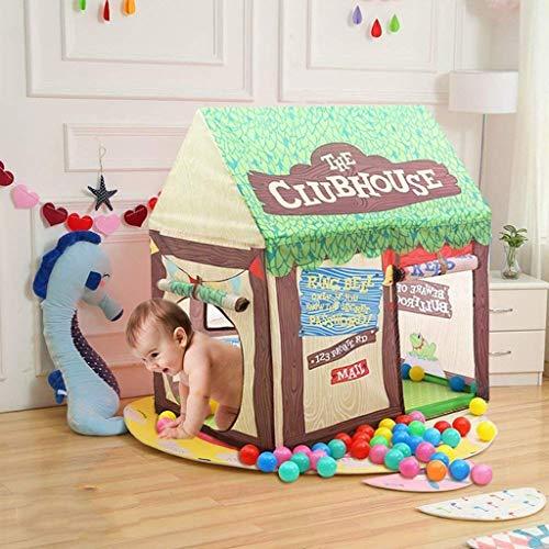 YXYOL Pop Up Kids Tienda del Juego, la Muchacha del Castillo de Teatro de los niños para el Interior y Exterior de la diversión, niños Juguete de la casa con Rueda para Arriba,Verde