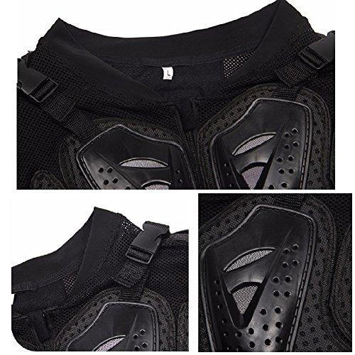 Motorrad Schutz Protektoren Motorradjacke Hemd Brustschutz Fallschutz Schutzjacke M-XXXL - 4