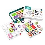 SODIAL Juegos de LóGica Animal Juguetes Educativos para NiiOs EducacióN Temprana para Mejorar la Memoria y el Entrenamiento de ConcentracióN