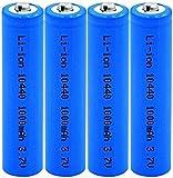IGMP Batería Recargable Batería de Iones de Litio 10440 Baterías de Iones de Litio 3.7V 1000 Células de Repuesto de Iones de Litio para ratón de Afeitado eléctrico-4 Piezas