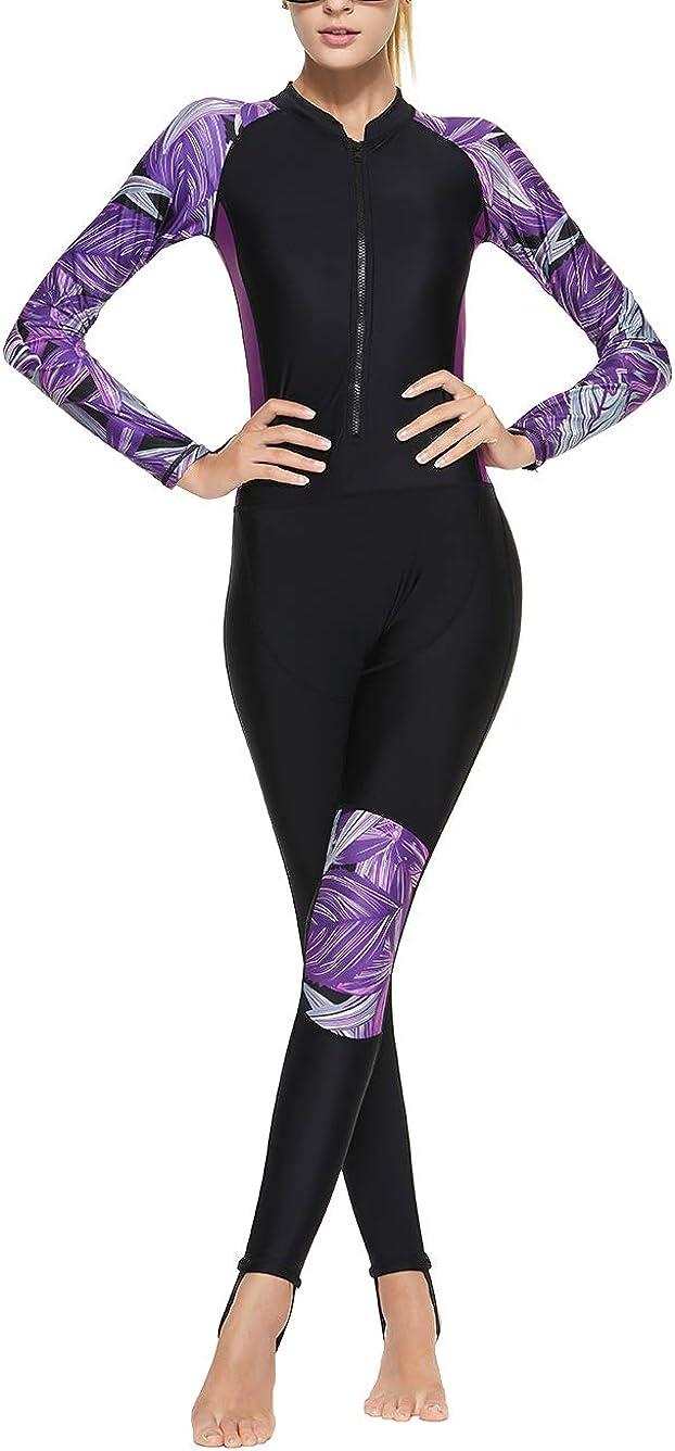 Akaeys オープニング 大放出セール Women's Full クリアランスsale!期間限定! Body Swimsuit Rash Guard One Slee Long Piece