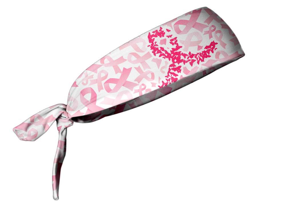 store Under blast sales TreadBands All Terrain Non Slip Headband - Breast Cancer Tieback
