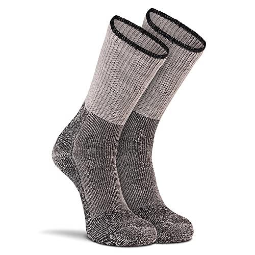FoxRiver Steel Toe Merino Wool Crew Socks for Men Heavyweight Moisture Wicking Work Boots Socks for Cold Weather and Winter - Grey - Medium (6624)