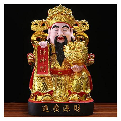 Adornos para sala estar, estatua Dios la riqueza, resina dorada, estatua Buda la suerte, decoración la oficina en casa, decoración la mesa, estatua Dios la fortuna, regalo año nuevo chino, adorno de
