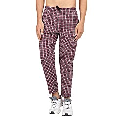 BIS Creations Mens Cotton Checkered Red Pyjama