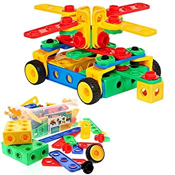 ETI Toys | STEM Learning | Original 101 Piece Educational Construction Engineering Building Blocks Set for 3 4 and 5+ Year Old Boys & Girls | Creative Fun Kit | Best Toy Gift for Kids Ages 3yr - 6yr