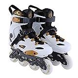 LJF-Roller shoes Patins à roulettes pour débutants réglables Double rangée à Quatre Roues Droite Ligne Chaussures Fantaisie Patins à roulettes