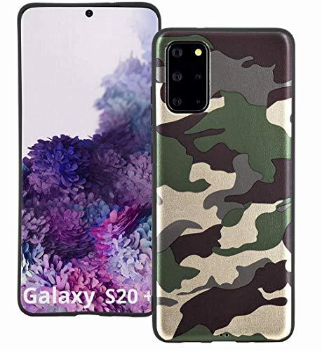 Suncase Camouflage Design Silikon Hülle Premium TPU Tasche kompatibel mit Samsung Galaxy S20 Plus Hülle Schutzhülle Cover Store