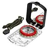 BIJIA Orienteering Map Compass -Sighting Mirror Compass with Adjustable Declination,Clinometer and LED light for Hiking, Camping,Orienteering,Hunting,Global Mountaineering,Navigating and SAR training.