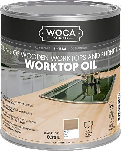 WOCA 527814AA olej do blatu roboczego, biały, 0,75 litra