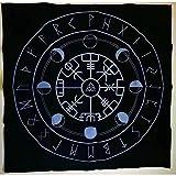 タロブ、神の祭壇のタロットのテーブルクロス、12の星座の星占い、タロブのテーブルクロス、五芒星の祭壇のテーブルクロス
