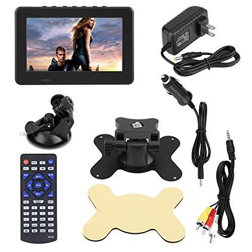 Zhiyavex Portable Digital TV,Car Digital TV,Car Digital TV FM Radio,7/10in 1080P Stereo High Sensitivity Digital TV,Portable Mini Television for MKV, MOV, AVI, WMV, MP4, FLV(7 ATSC)