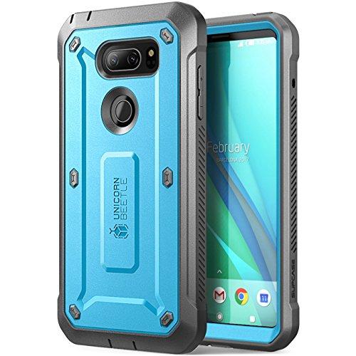 LG V30 Case, SUPCASE Full-Body Rugged Holster Case with Built-in Screen Protector for LG V30, LG V30s,LG V35,LG V35 ThinQ,LG V30 Plus 2017 Release, Unicorn Beetle PRO Series(Blue/Gray)