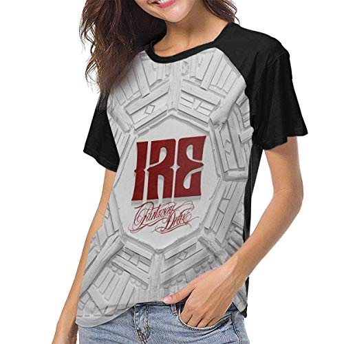Kmehsv Damen Parkway Drive Ire Womens Short Sleeve Raglan Baseball Tshirts Black