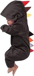 Hirolan Overall Bekleidungssets Neugeborenes 6-24 Monate Baby Jungs Mädchen Dinosaurier Reißverschluss mit Kapuze Spielanzug Onesies Strampler Jumpsuit Outfits Kleidung Set