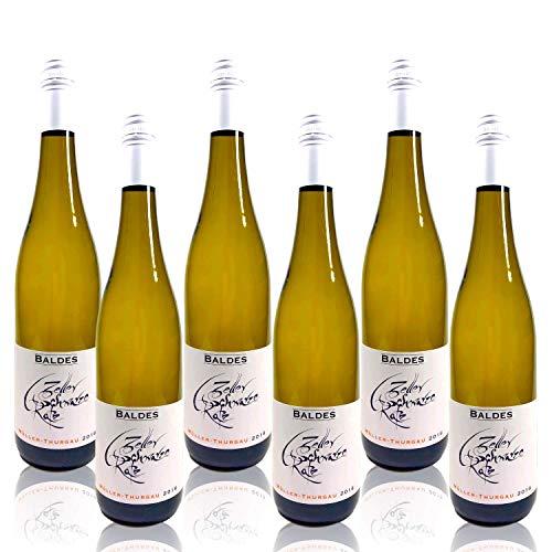 Weingut Baldes Zeller Schwarze Katz Müller-Thurgau/Rivaner 2018 | feinherb (Weinpaket 6 x 750 ml)