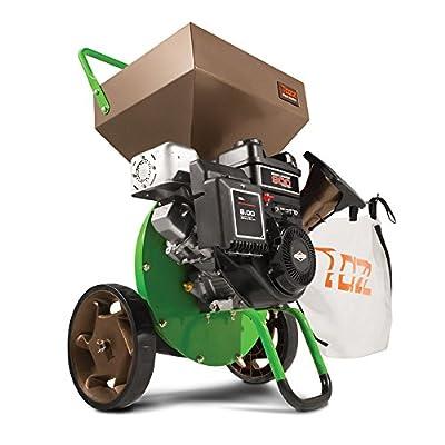 Tazz 22753 K42 Chipper Shredder, 205cc Gas Powered 4-Cycle Briggs and Stratton Engine, 5 Year Warranty