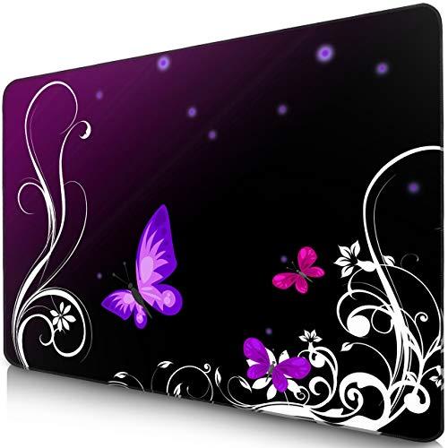 Sidorenko Gaming Mauspad I Mousepad 280 x 200 mm I Fransenfreie Ränder I spezielle Oberfläche verbessert Geschwindigkeit und Präzision I rutschfest I violett
