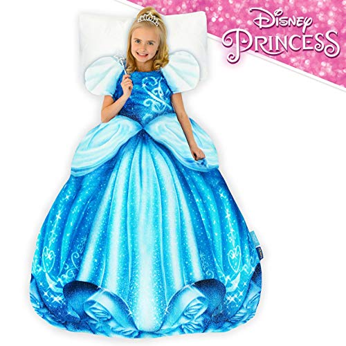 Blankie Tails | Disney Princess Dress Wearable Blanket - Double Sided Super Soft and Cozy Princess Minky Fleece Blanket - Machine Washable Fun Disney Blanket for Kids (Cinderella)