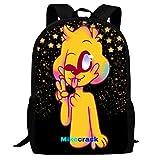 Mike-Crack Travel Laptop Mochila School Student Bookbag Bolsas universitarias para niños Unisex