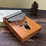 Kalimba 17 Teclas De Piano Bull Kalimba Pulgar Cuerpo De Caoba Instrumento Musical Mejor Calidad Y Precio (Color : Reindeer)