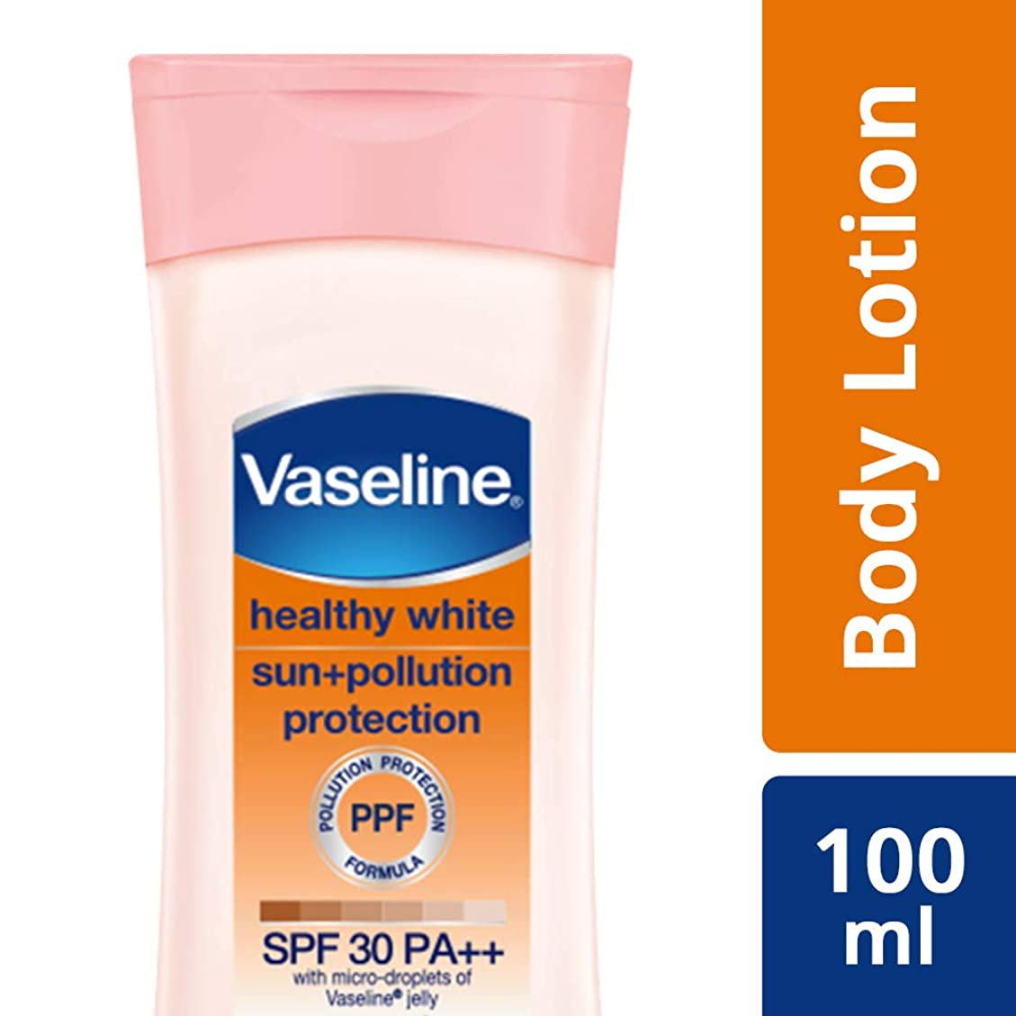 ギネス北米絞るVaseline Healthy White Sun + Pollution SPF 30 Body Lotion, 100 ml