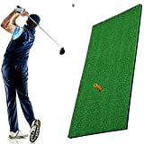 <span class='highlight'><span class='highlight'>ELR</span></span> Golf Practice Hitting Mat with TEE, Portable Mini Residential Practice Golf Training Aid Grass Mats Launch Pad for Home Office Backyard Outdoor Indoor Swing Detection Batting
